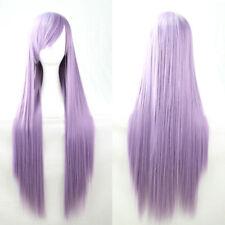 80CM Anime Long Straight Heat Resistant Hair Full Wig Lolita Costume CosplayWigs