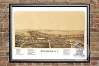 Vintage Caledonia, NY Map 1892 - Historic New York Art - Victorian Industrial