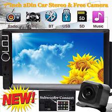 "7"" Car MP5 Player Bluetooth Stereo Radio+ Camera For Ford F150 E-150 E-250 04-13"