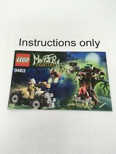 ONLY instructions Lego 9463 Werewolf Monster Fighters; no bricks no minifigures