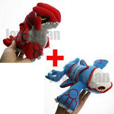 "Pokemon Center Pokedoll 6"" Groudon & 9""Kyogre Stuffed Animal Plush Doll Toy 2pcs"