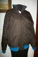 Veste BLOUSON zip reversible polaire SALOMON T.L 42/44 marron/turquoise brodé
