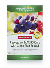 Resveratrol Max 5000mg | 60 Capsules | An exciting nutrient found in red grapes
