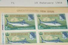 BRITISH VIRGIN ISLAND SCOTT 186-9 MNH SINGLE AND BLOCK OF 4 EXTREME FINE STAMPS