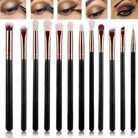 12pcs Eye Cosmetic Brush Set Eyeshadow Eyebrow Blending Br Brush Set M9B2 M G5L2