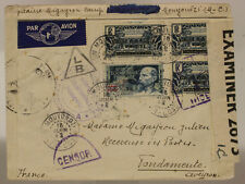 FRENCH EQUATORIAL AFRICA AIR MAIL FROM INTERNMENT CAMP MOUYONDZI 1942 #SP652