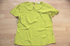 BODEN lime Montpellier  top   size  14  NEW with peter pan collar  WA457