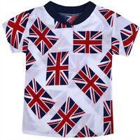 Boys Girls England T-shirt Kids World Cup White Football Top Age 2 3 4 5 6 Years