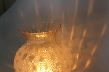 Vintage Art Noveau French Leopard Spot  Light Cover Glass Lamp Shade.