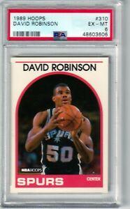 DAVID ROBINSON -- 1989/90 HOOPS -- #310 -- PSA  EX-MT 6