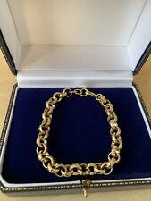 Mens Luxury 18k Gold Filled Diamond Cut Belcher Bracelet Chain 8mm 18ct