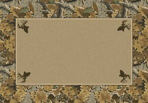 Milliken Realtree Collection Advantage Solid Center Area Rug