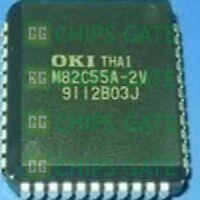 3PCS NEW M82C55A-2V Manu:OKI PLCC-44,CMOS PROGRAMMABLE PERIPHERAL