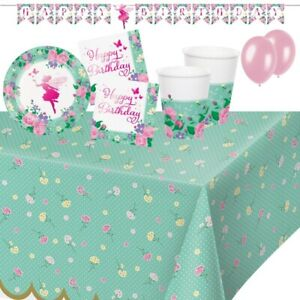 Floral Fairy   Fairies Sparkle Party Tableware, Decorations & Balloons