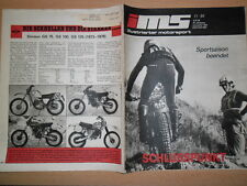 Illustrata Motorsport 11/1984 * TRIAL motoball Viaggi Auto Simson GS 75-125