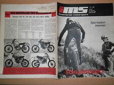 Illustrata Motorsport 11/1984 TRIAL motoball Viaggi Auto Simson GS 75-125