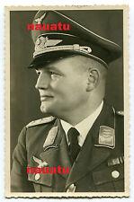 Foto Portrait Luftwaffe Hptm. Müller von der 1. Aufklärungsgruppe 127 Goslar