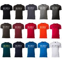HUGO BOSS Herren T-Shirt kurzarm, Rundhals, UV-Protection, Baumwolle - Farbwahl
