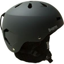 Bern Macon Matte Black Helmet w/Black Knit Liner Small