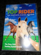 DVD TOP RIDER The Complete Riding Trainer PONY CLUB TRAINING SYSTEM GUIDE Learn