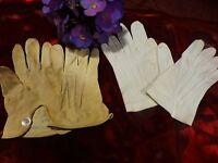 lot  gants  2paires===== fillette ,une paire en cuir