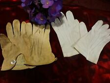 lot  gants  2paires fillette ,une paire en cuir