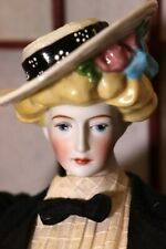 """Gibson Girl Antique Reproduction 20"""" China Bisque Doll in Corset"""
