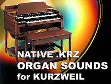 Kurzweil Organo Hammond B3 VOX FARFISA SUONI CD per pc3k8 pc3k7 pc3k6 pc3k 6 7 8