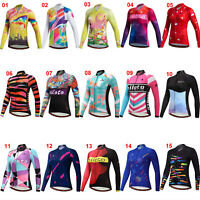 Miloto Women's Long Sleeve Cycling Jersey Ladies Bike Cycle Clothes Shirt Tops