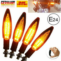 4x Motorrad LED Blinker mit Lauflicht Laufeffekt 12V e-geprüft Quad ATV Roller