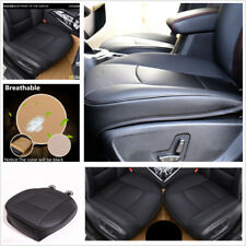Black PU Leather Deluxe Car Seat Cover Protector Cushion Sedan Front Seat Cover