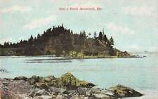 Rockland Maine scenic birds eye view Owls Head antique pc Y14918