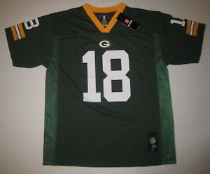 Boy's Randall Cobb Green Bay Packers Jersey NFL Large New NWT MSRP $60