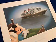 Disney Cruise Line - Mickeys Maiden Disney Dream Cruise LE Lithograph
