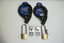 LOT OF 2 COMPLETE SECURITY LOCK & CABLE BRACKETS MADE TO FIT RTIC 20 COOLER