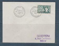 enveloppe 1er jour  Rimbaud  08 Charleville  27 octobre 1951