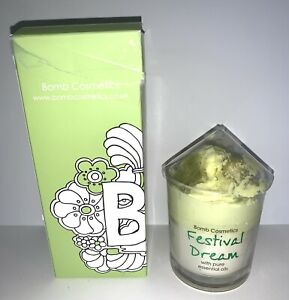 WONDERFUL NEW IN BOX BOMB COSMETICS FESTIVAL DREAM GLASS CANDLE