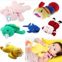 Baby Soft Cartoon Feeding Milk Bottle Plush Pouch Covers Keep Warm Holders