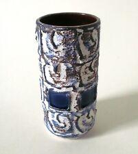 """60s Schlossberg Keramik Vase 15cm """"Capri"""" Welling ceramic west german céramique"""