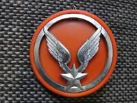 Insigne de béret de l'ALAT avec son macaron de tradition orange ( avant 2001 )