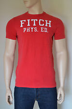 NUOVO Abercrombie & Fitch pesce HAWK Cliff RED TEE T-SHIRT L