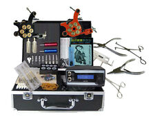 New body piercing kit and 2 piece tattoo machine power needles grip complete set