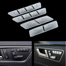 Car Seat Memory Buttons Cover Trim Accessories fits Benz A E GLA CLA GLK GLE CLS