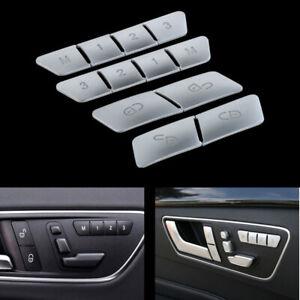Car Seat Memory Buttons Cover Trim Accessories fits Benz A E GLA CLA GLK GLE CLS