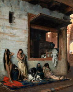 Jean Leon Gerome The Slave Market Poster Reproduction Giclee Canvas Print