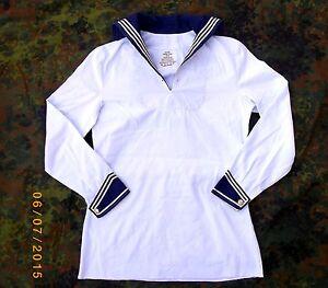 BW Marinehemd Matrosenhemd weiss ohne Manschettenknöpfe gebraucht