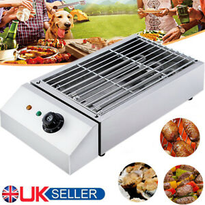 Electric Table Top Grill BBQ Barbecue Cooking 2800W Indoor Garden Camping UK