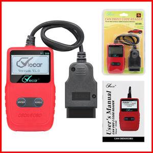 VC309 OBDII Car Scanner Code Reader Auto Fault Engine Diagnostic Reset Tool