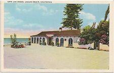 Cafe Las Ondas in Laguna Beach CA Postcard