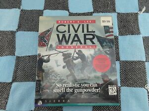 Robert E. Lee Civil War General Big Box PC Game WINDOWS 95 CD Rom Computer